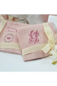Bustina in cotone rustico rosa