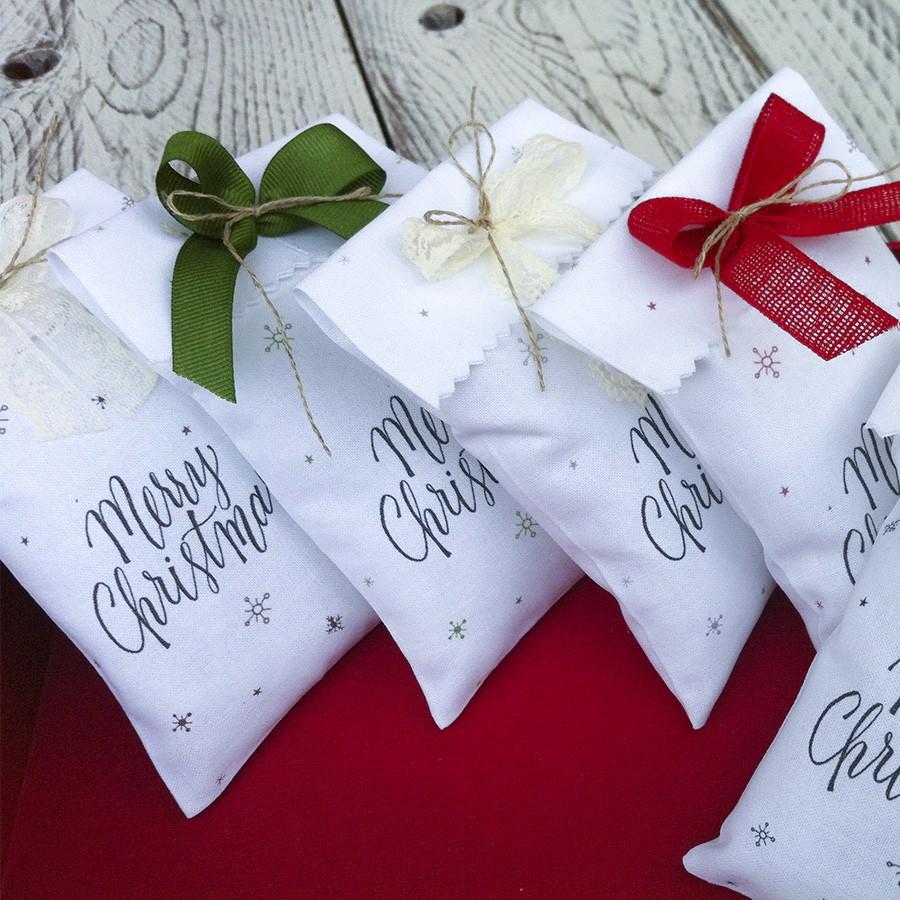 Sacchettino da regalare a Natale o da utilizzare come segnaposto.