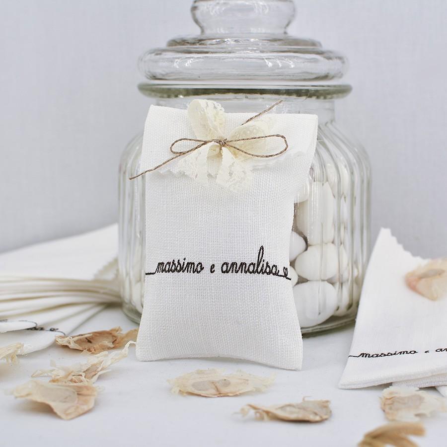 Sacchettino porta confetti per matrimonio