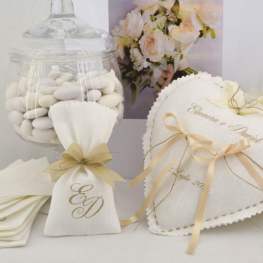 Sacchettino piccolo porta confetti per matrimonio